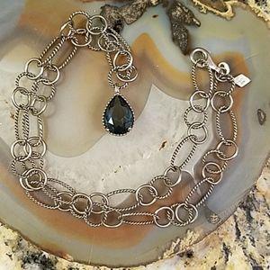 Vintage blue stone Sai silver neckace GUC